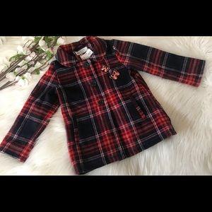 H&M Toddler Girl Plaid Wool Blend Coat
